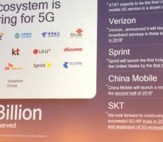 首批5G手机预计2018年推出 最高速度超4Gbps