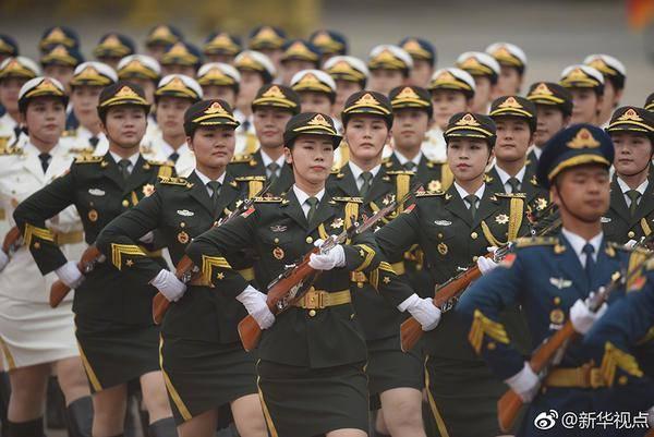 女兵方阵亮相 真的是太惊艳了