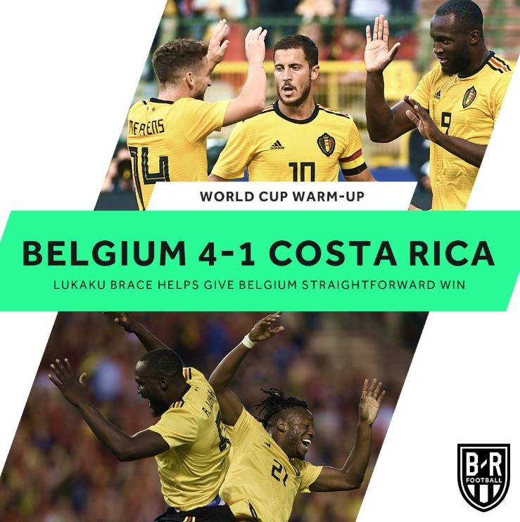 比利时vs哥斯达黎加 比赛经过回顾