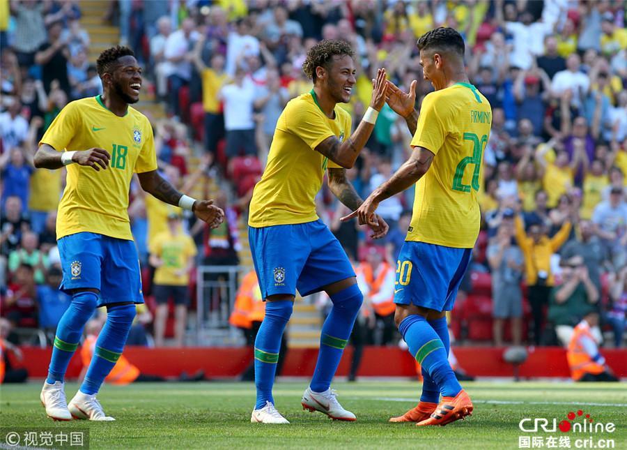 巴西2-0克罗地亚 内马尔复出表现惊艳