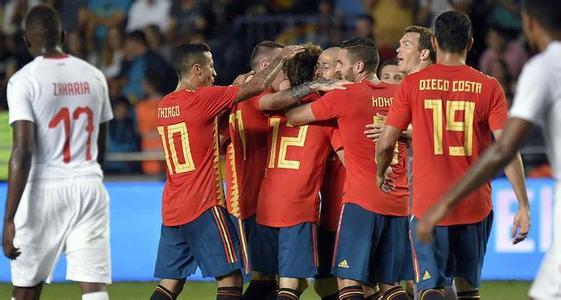 西班牙VS突尼斯 两队首发都有谁
