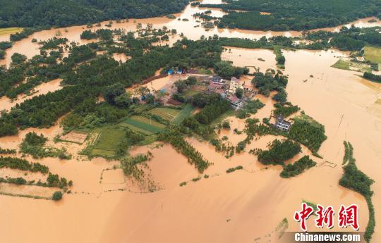 泰和遭受暴雨侵袭 房屋淹没触目惊心