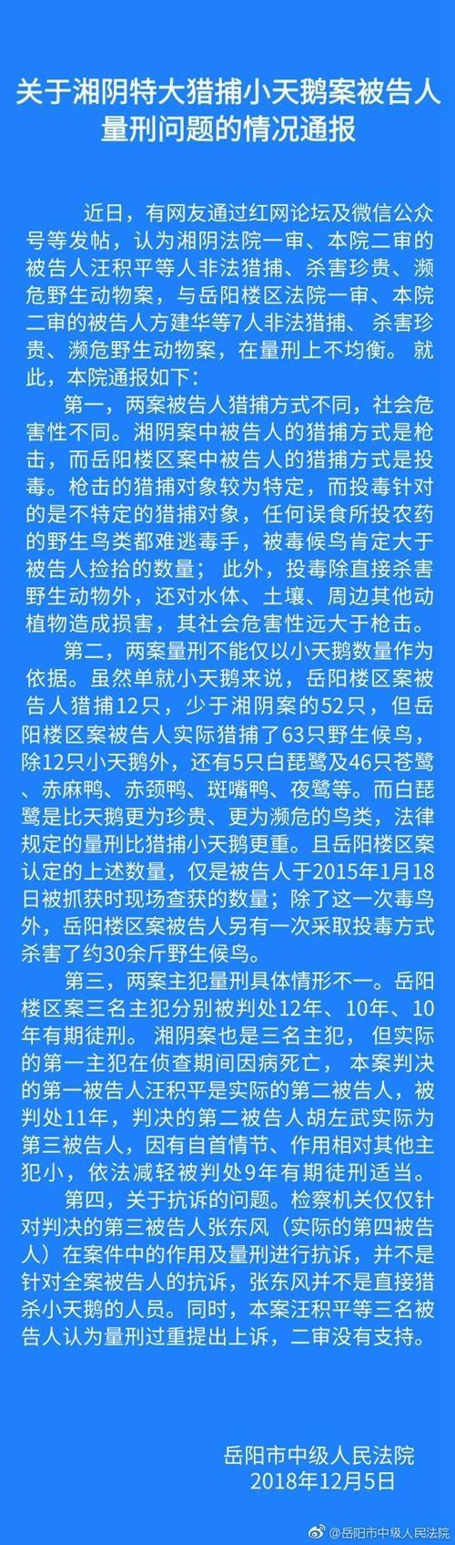 湘阴猎捕小天鹅案 怎么回事 案件始末详情介绍