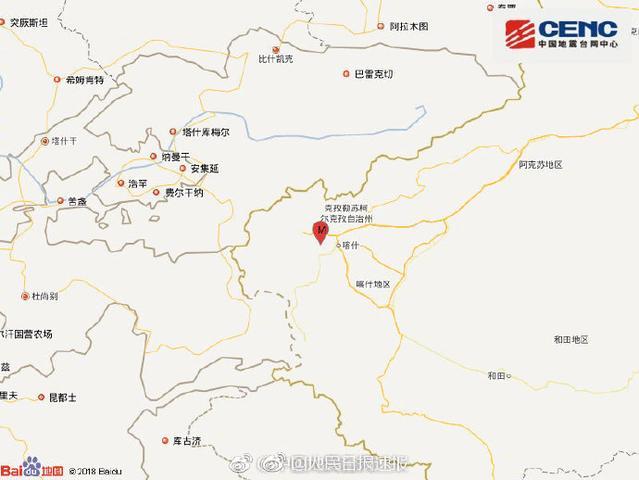新疆喀什5.1级地震 具体位置 详情介绍