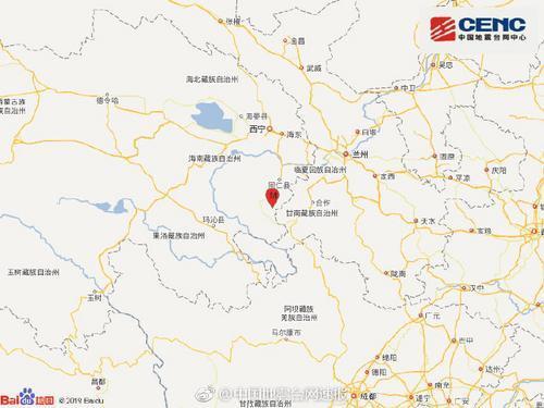 青海泽库县地震 震级几级  有没有伤亡情况