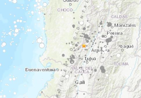 哥伦比亚地震 震级几级  有没有伤亡情况