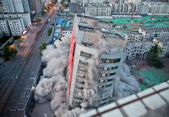 郑州冰熊大厦爆破 288公斤炸药 怎么事怎么回事为何爆破